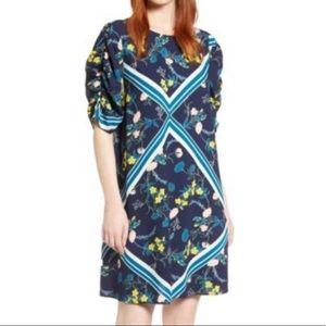 Halogen blue floral dress nwot medium